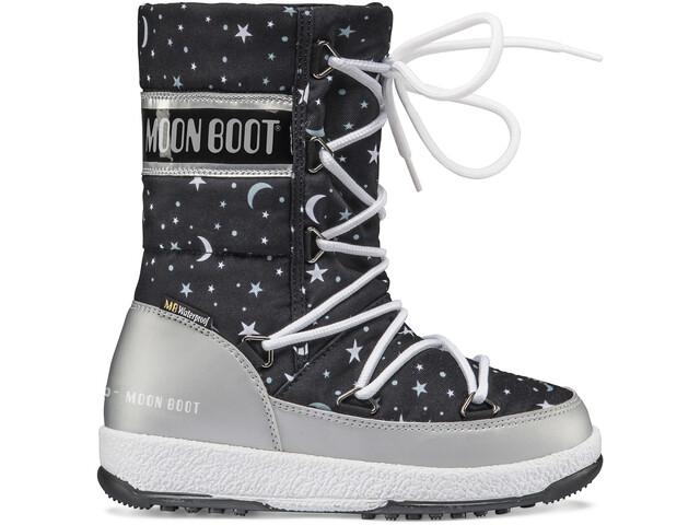 Moon Boot Quilted Universe WP Talvikengät Tytöt, silver/black